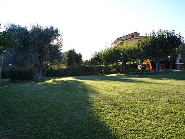 Giardino del B&B Due Fontane di Caltanissetta